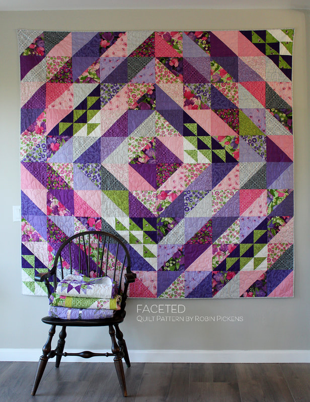 Faceted Quilt By Robin Pickens With Sweet Pea Amp Lily