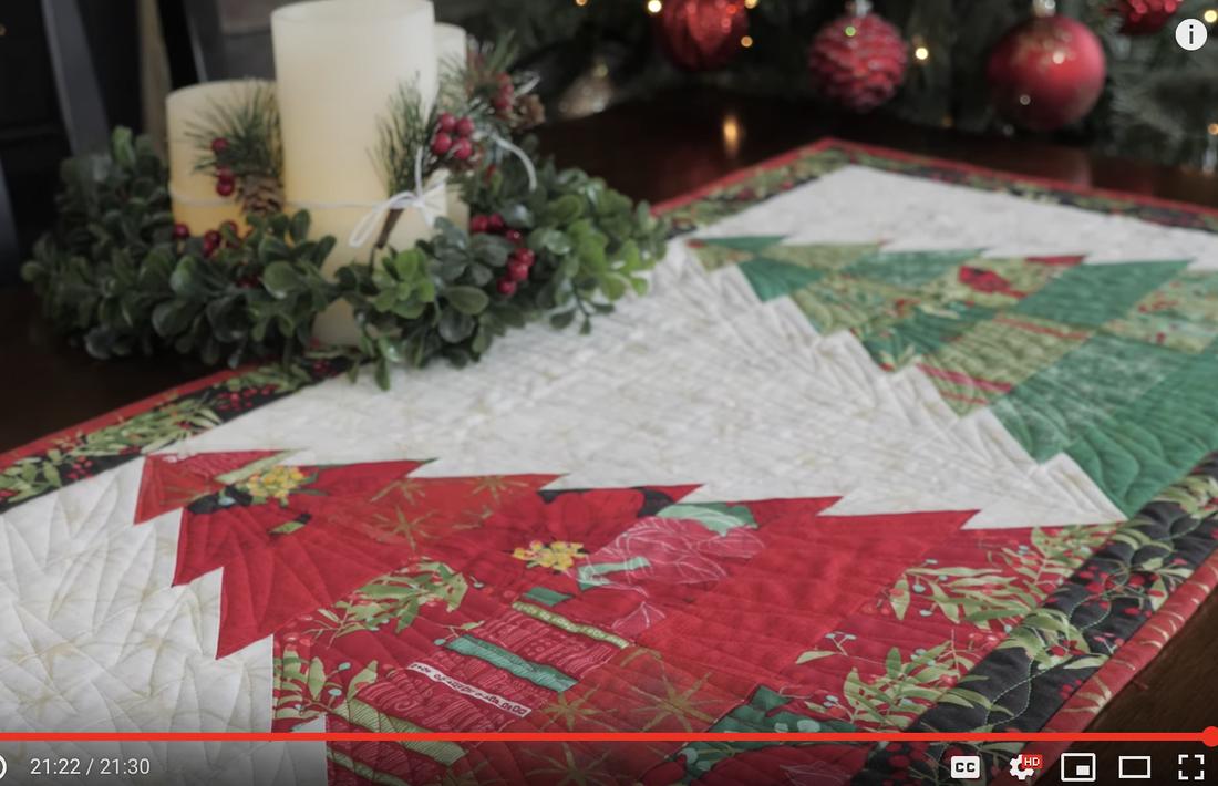 Shabby Fabrics Tree Table Runner With Splendid By Robin Pickens For Moda Fabrics Robin Pickens