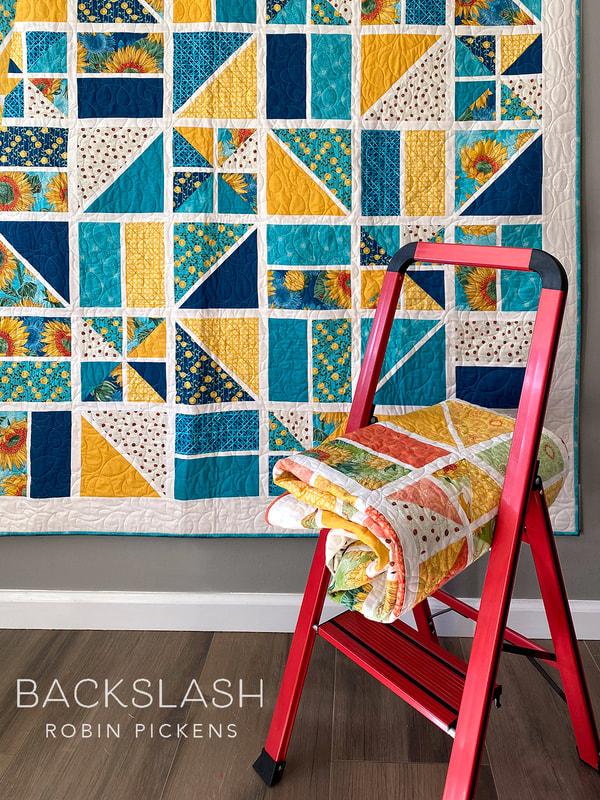 Backslash Quilt using Solana by Robin Pickens