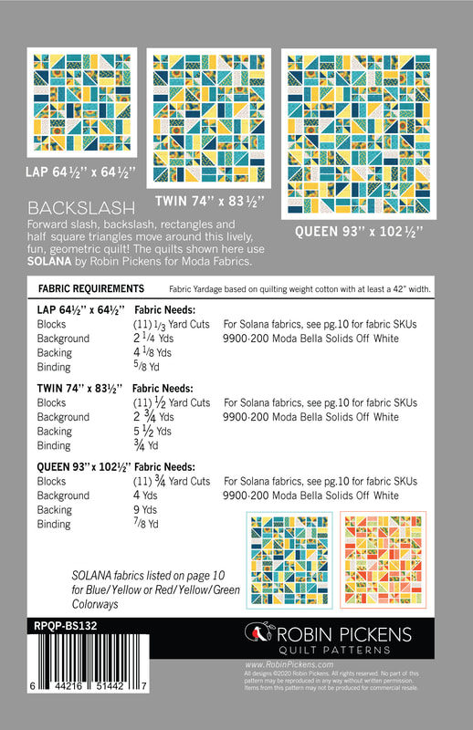 Backslash Quilt Pattern back for specs