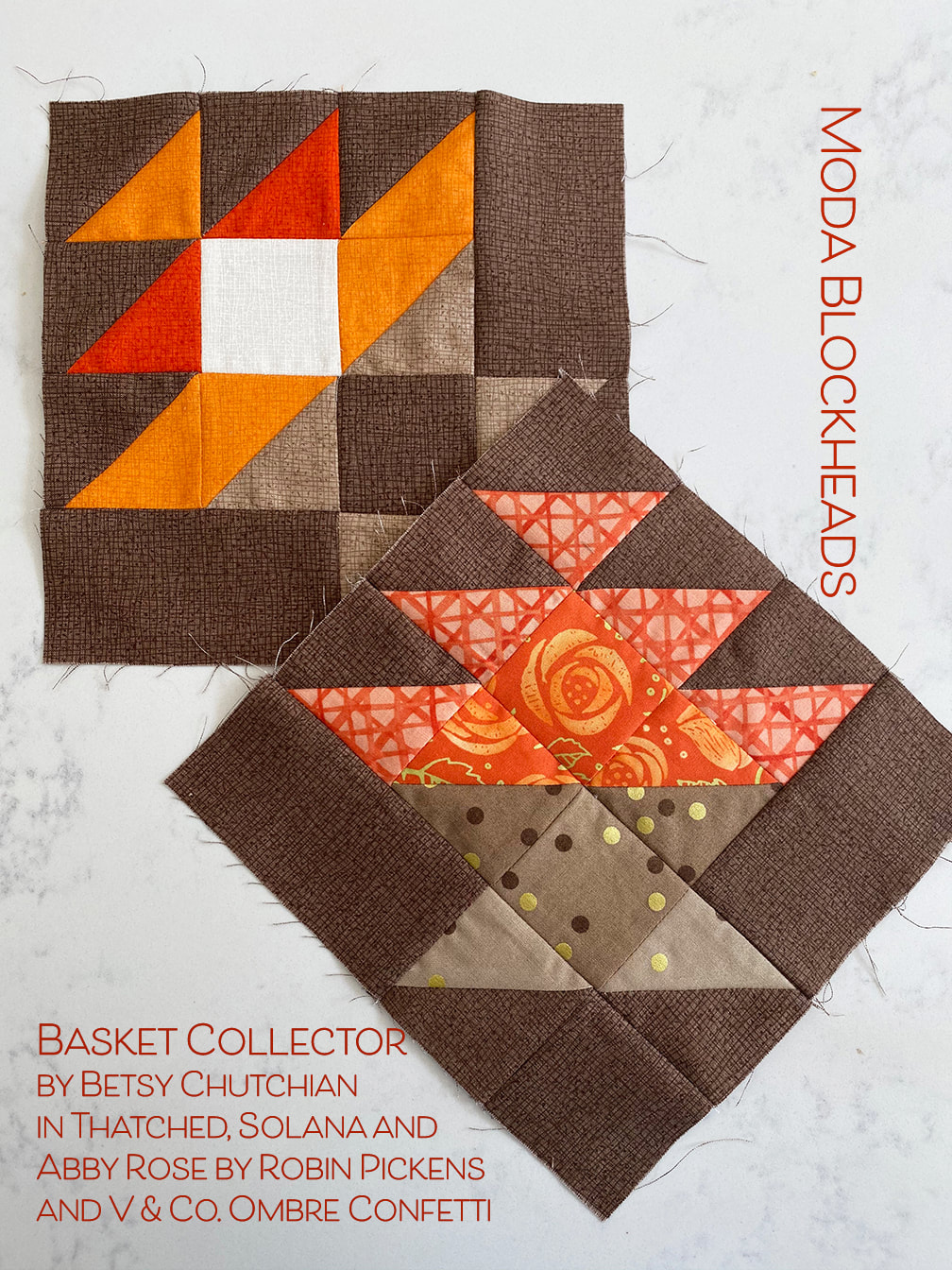 Basket Collector quilt block- Moda Blockheads from Betsy Chutchian done in Robin Pickens fabrics