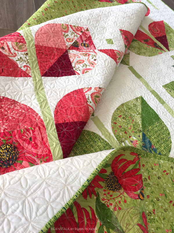 Beanstalk quilt by Robin Pickens in Painted Meadow fabric from Moda Fabrics