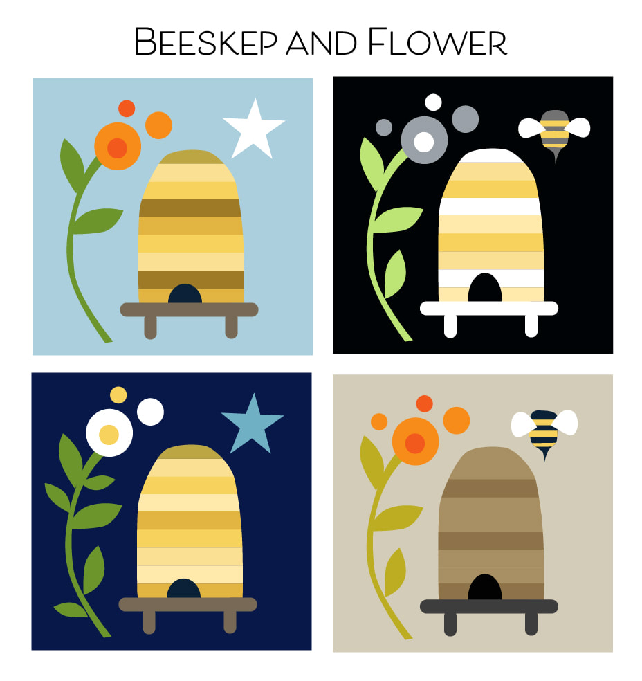 Beeskep and Flower color studies