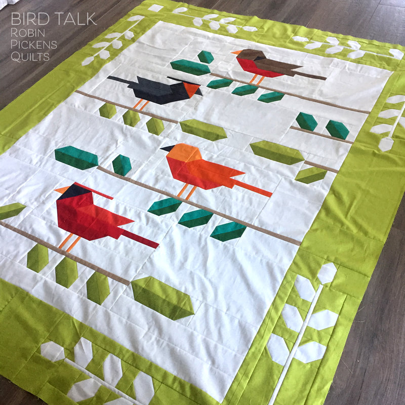 BIRD TALK quilt by Robin Pickens