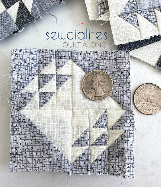 Devoted quilt block in Thatched for Sewcialites