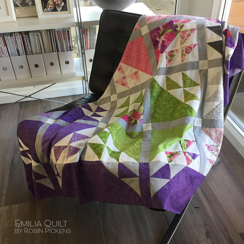 Emilia quilt by Robin Pickens in purple
