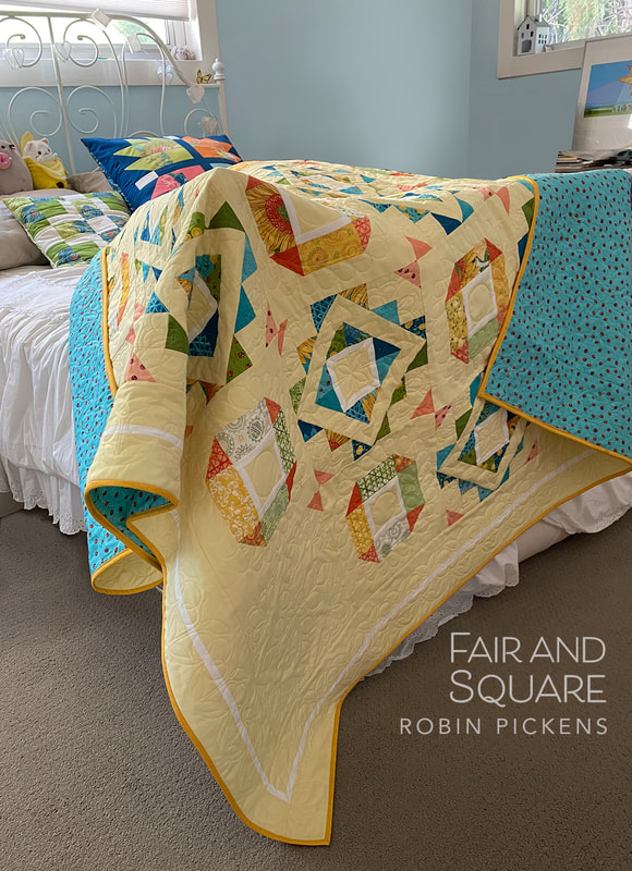 Fair and Square by Robin Pickens in Solana with ladybug backing