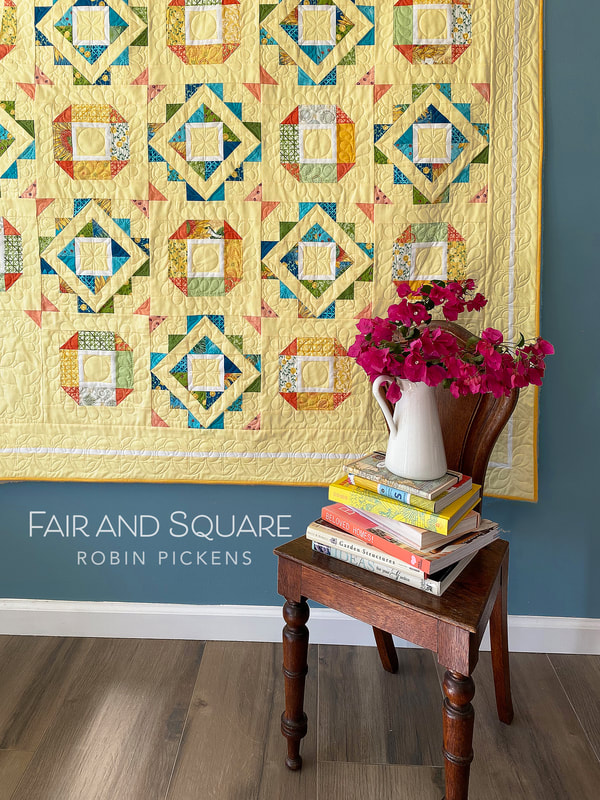 Robin Pickens' Fair and Square made in Solana fabric by Moda