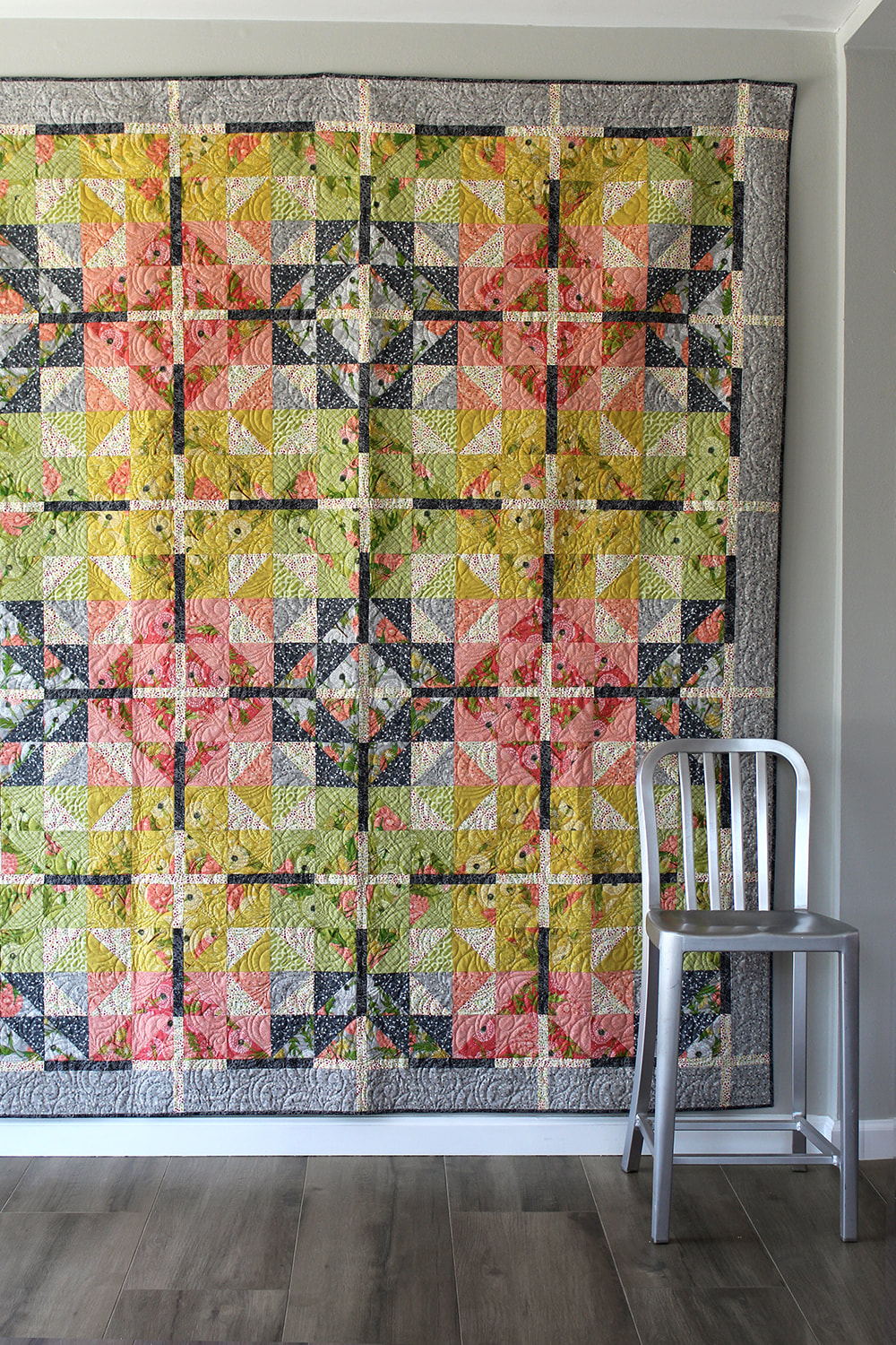 Farmhouse Crossing quilt by Robin Pickens using Dandi Annie
