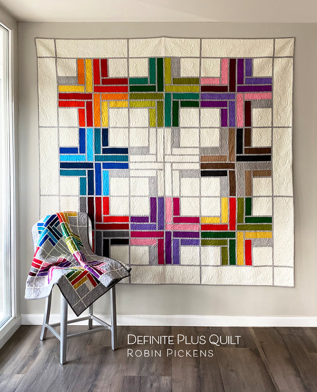 Definite Plus Quilt from Robin Pickens Jelly Roll quilt pattern