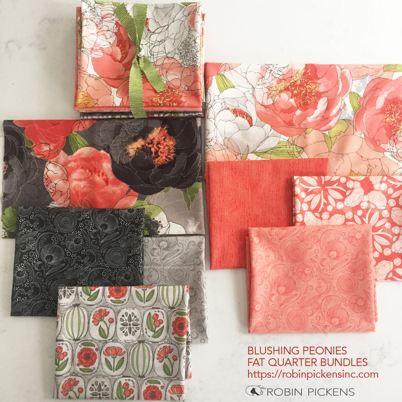 Fat Quarter Bundle Blushing Peonies