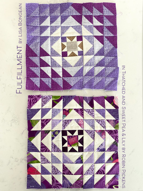 Fulfillment block from Lisa Bongean for Moda Blockheads