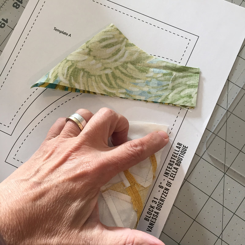 Circle Savvy Ruler used for curved piecing