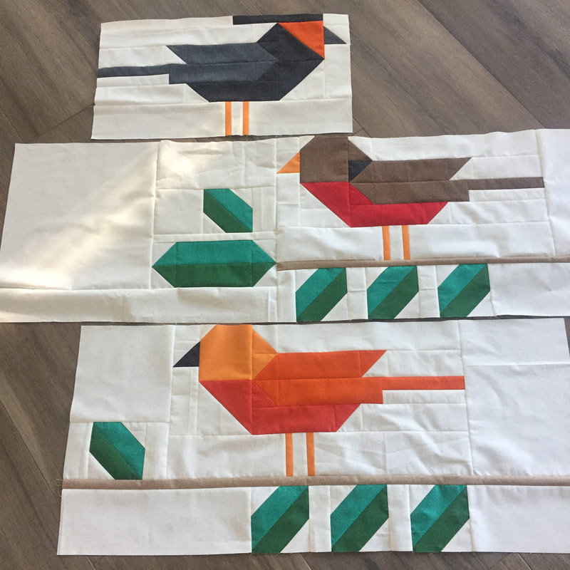 BIRD TALK quilt by Robin Pickens in Thatched fabrics by Moda