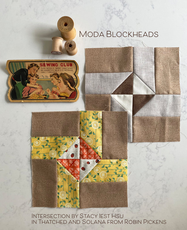 Intersection from Stacy Iest Hsu in Robin Pickens fabrics Moda Blockheads