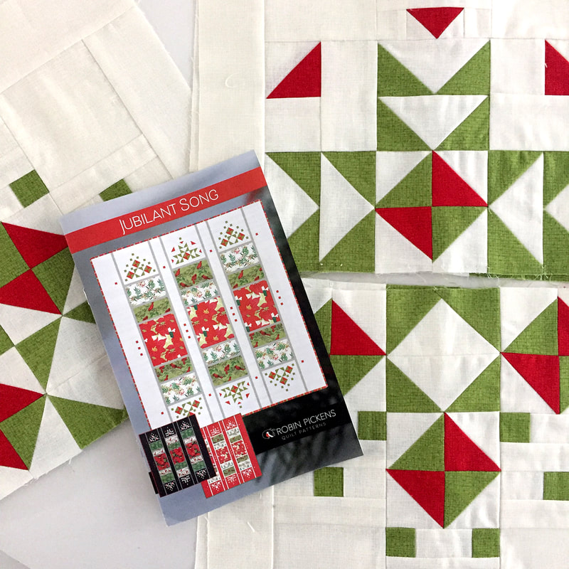 Jubilant Song Quilt Pattern by Robin Pickens HST blocks