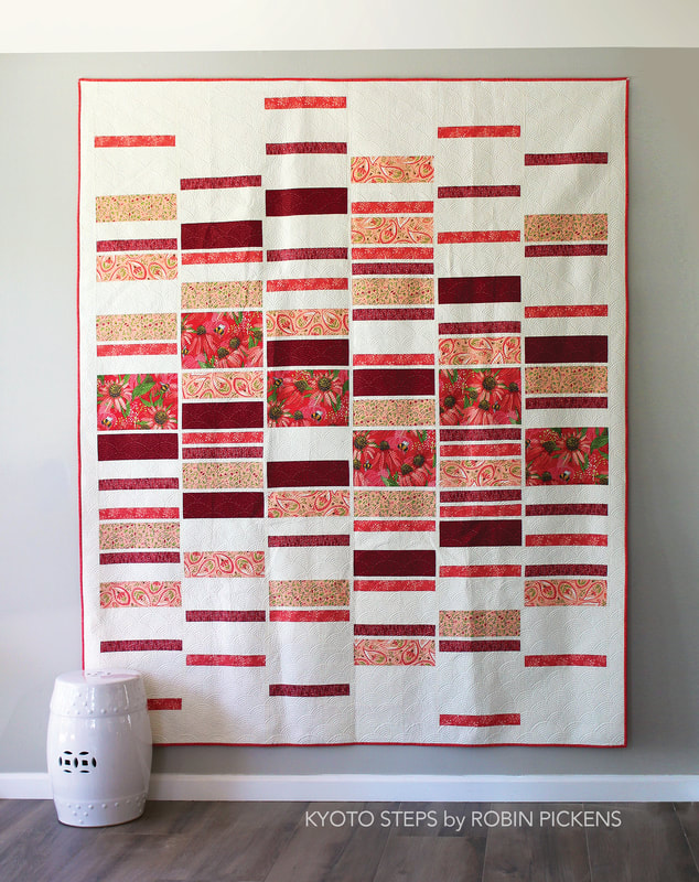 Kyoto Steps quilt by Robin Pickens full