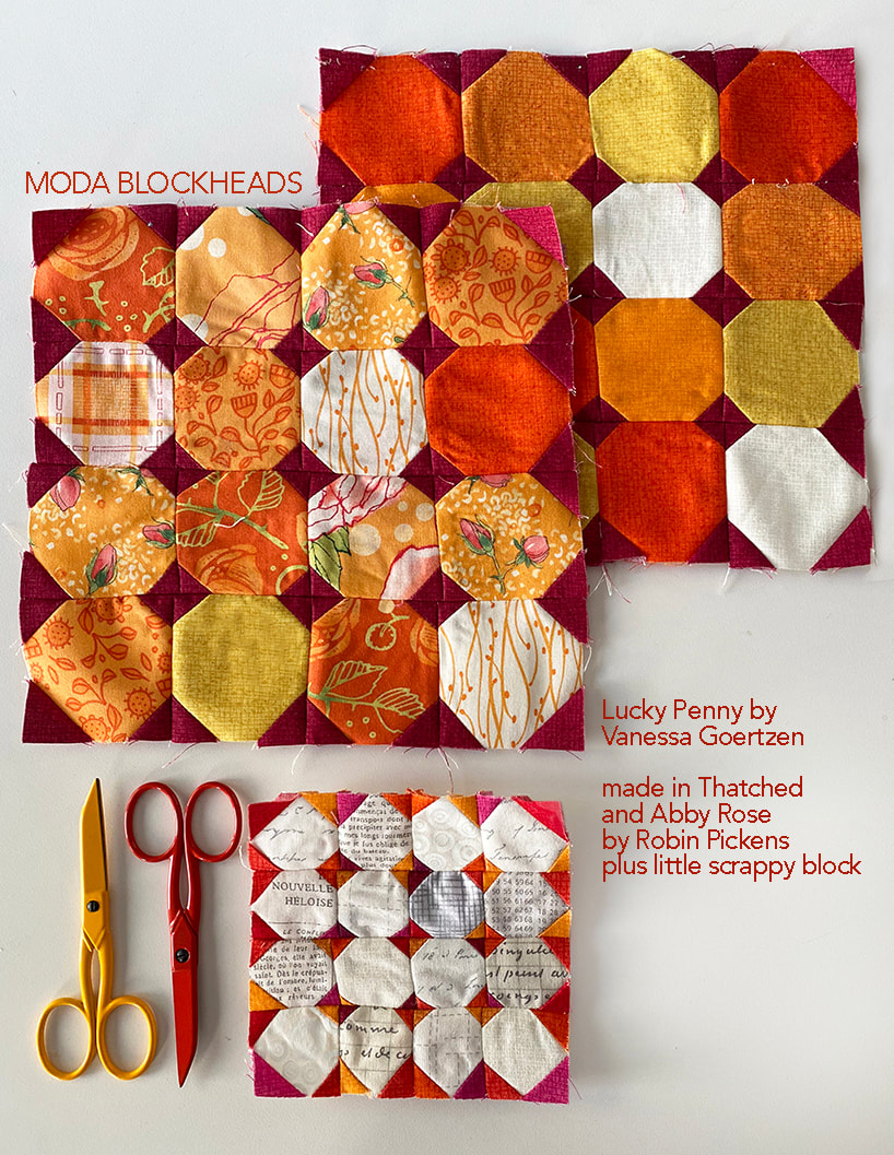 Lucky Penny by Vanessa Goertzen in Thatched and Abby Rose by Robin Pickens plus scrappy