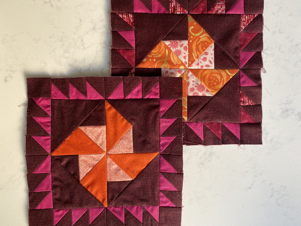 Moda Blockheads 3 Magic block by Lisa Bongean in Abby Rose / Thatched