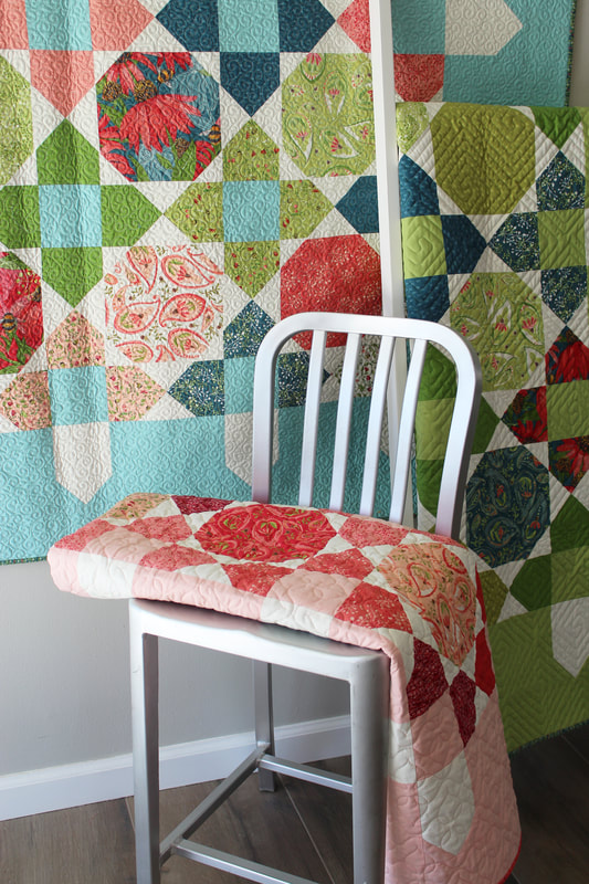 Picket quilt by Robin Pickens with Painted Meadow for Moda Fabrics grouping