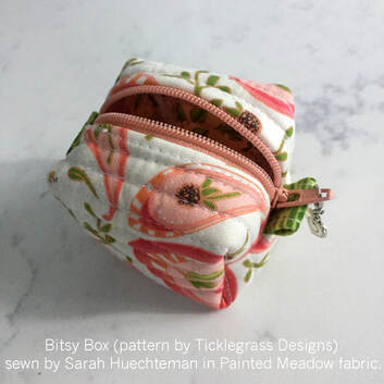 bitsy box in Painted Meadow fabric