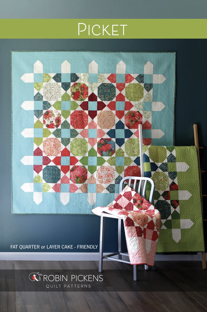 Picket quilt by Robin Pickens