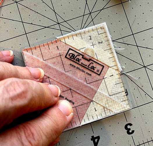 Bloc Loc rulers for little half square triangles HST