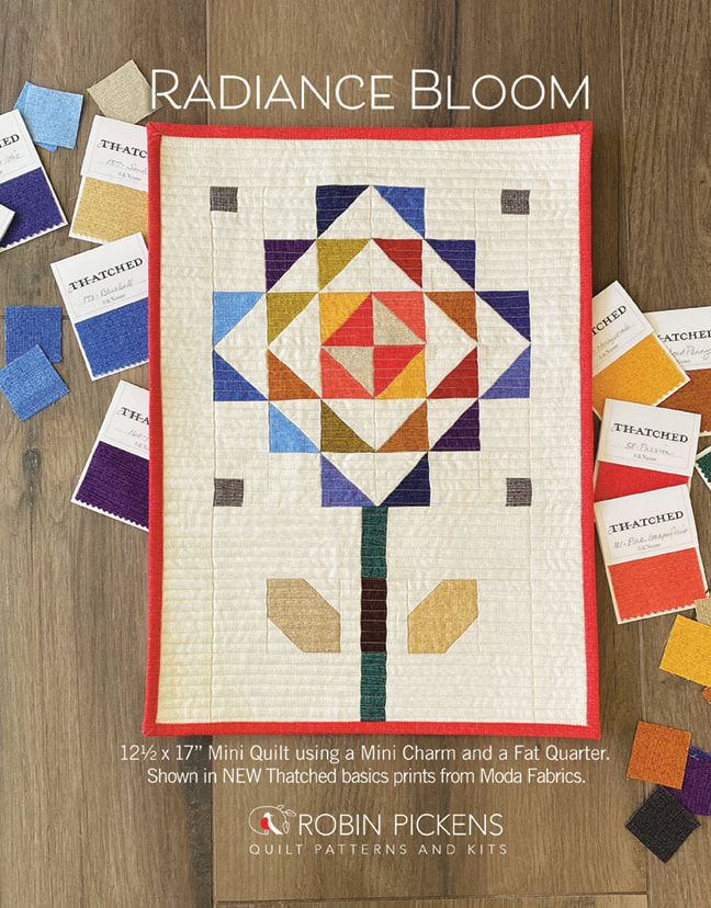 FREE Radiance Bloom Mini Quilt Pattern from Robin Pickens in new Thatched colors