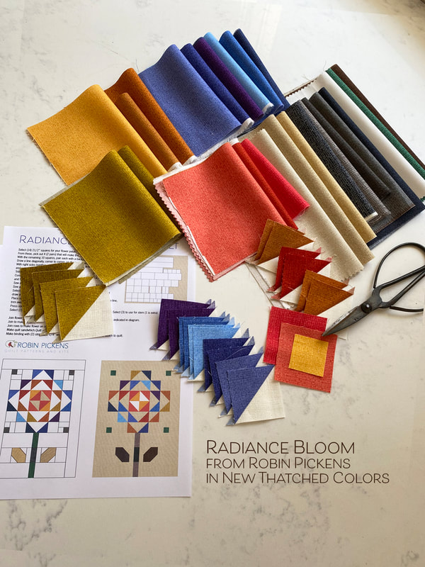 New Thatched Fabric colors in Robin Pickens' Radiance Bloom