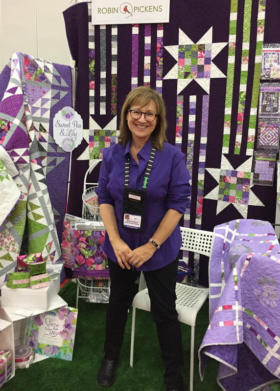 Robin Pickens at Quilt Market Fall 2018