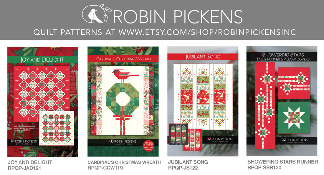 Robin Pickens Christmas Quilt Patterns on etsy