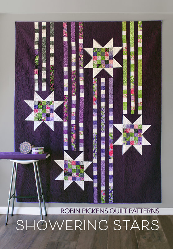 Showering Stars quilt by Robin Pickens