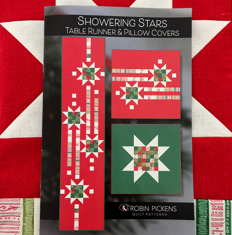 Showering Stars Table Runner and Pillow Cover Quilt Pattern