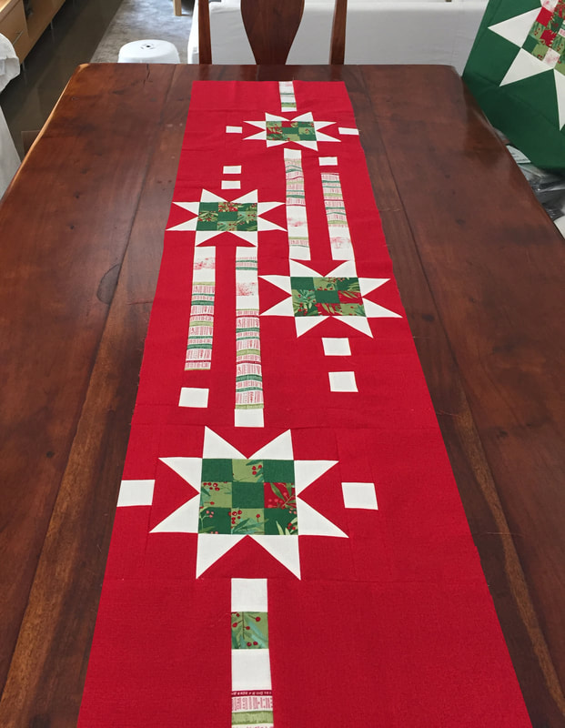 Showering Stars Table Runner Quilt Pattern