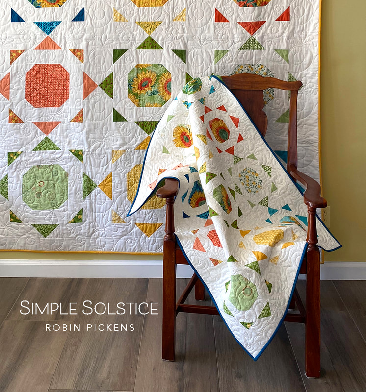 Simple Solstice quilt pattern from Robin Pickens with Solana fabric