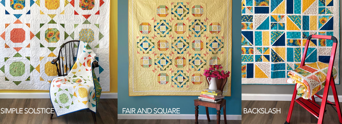 Robin Pickens quilts with Solan fabric