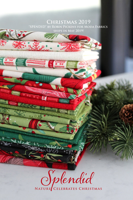 Moda Christmas Fabric 2019 Splendid Christmas Fabrics   Robin Pickens