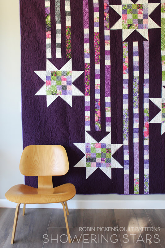 Showering Stars quilt by Robin Pickens Sweet Pea