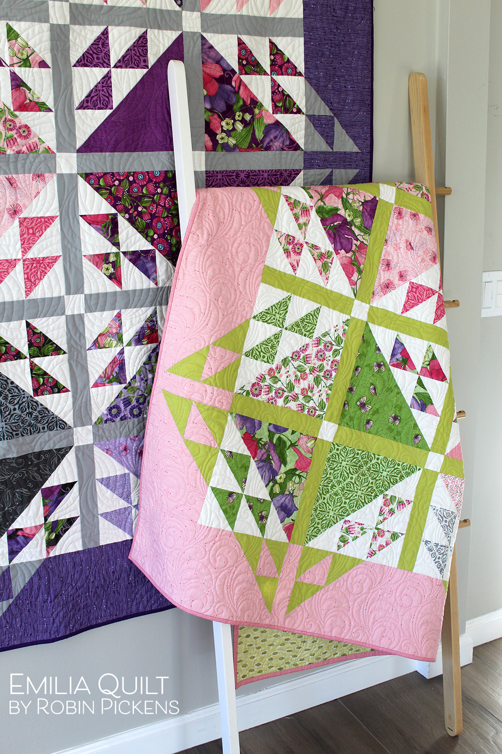 Emilia quilt by Robin Pickens with Sweet Pea and Lily Moda fabrics