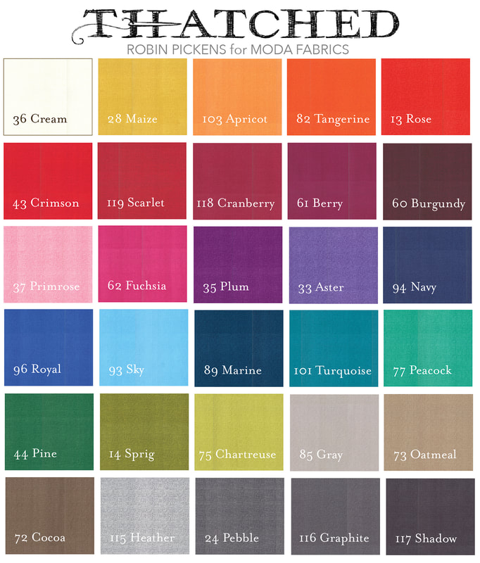 Thatched by Robin Pickens for Moda Color Chart