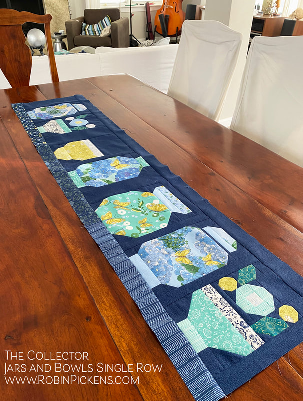 The Collector table runner idea from Robin Pickens
