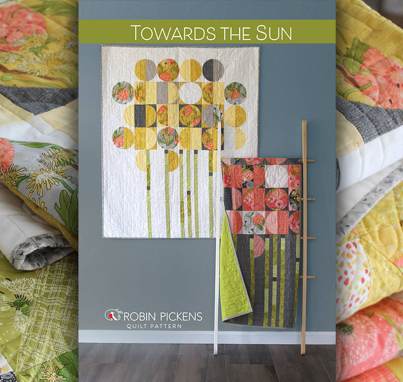 Towards the Sun quilt pattern by Robin Pickens on etsy