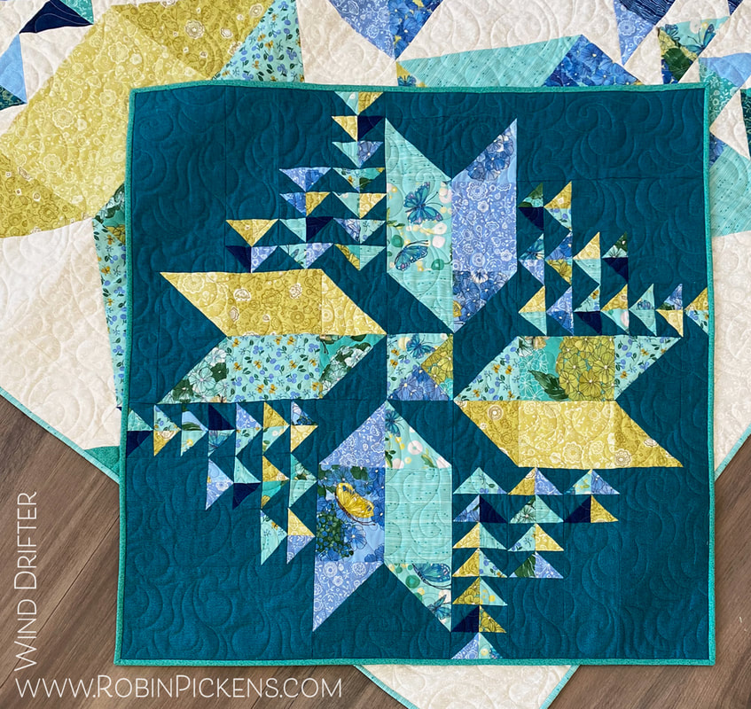 Wind Drifter Small quilt in Cottage Bleu Robin Pickens  for Moda Fabrics