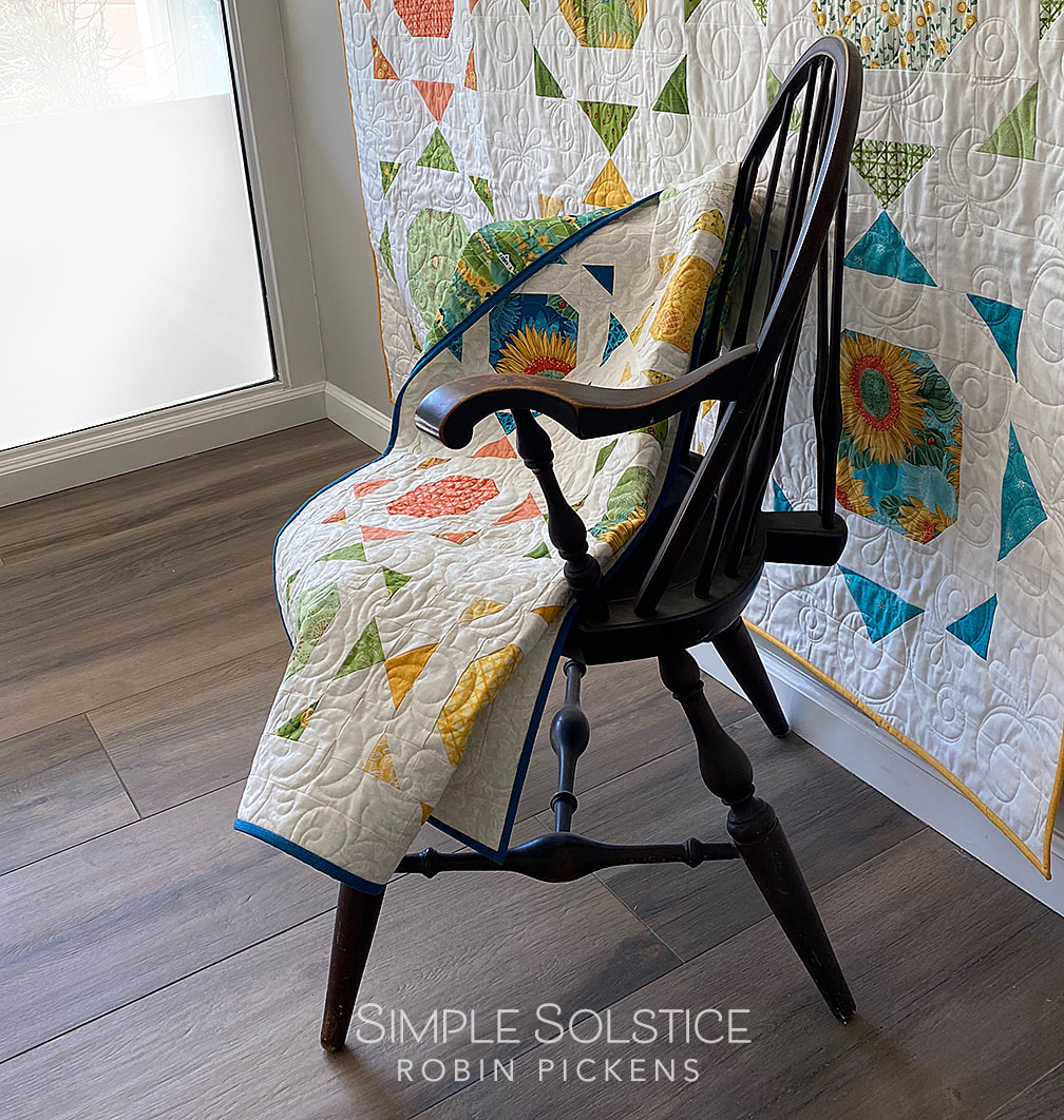 Simple Solstice quilt in Solana on Windsor Chair